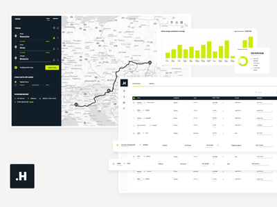HOGS - maps for transport on a new level ui design webdesign data table webapplication product design dashboard webapp transportation transport shipping productdesign product ui maps map logistics interaction freight app