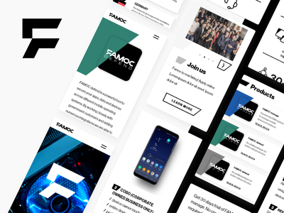 FAMOC - Product Platform Website mobile white website web design webdesign security product platform page minimal landing header responsive flat devices cybersecurity corporate black adobe xd