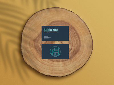 Bahia Mar Cards mar palm tourism hotel beach minimalist logo cards design cards minimalist branding design logo branding