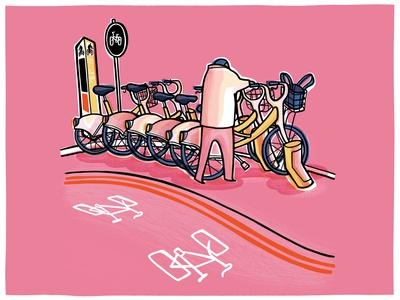 More bikes greenrecovery santandercycle borisbike cyclehire cycle bicycle bicycleillustration illustrator london illustration