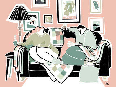 Koselig telegraph sunday cosy hygge koselig winter illustrator illustration