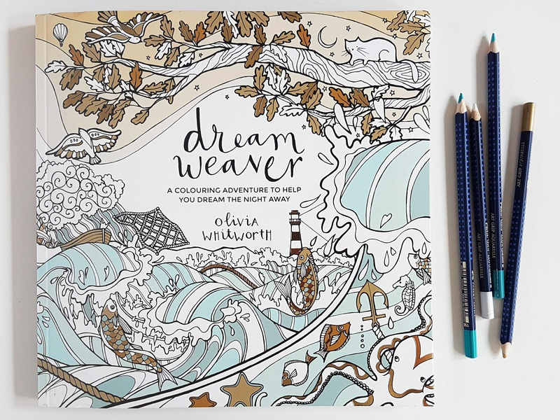 Dreamweaver Front Cover illustrations design cover art book cover book illustrator line art drawing dreamweaver colour color coloring book colouring book illustration