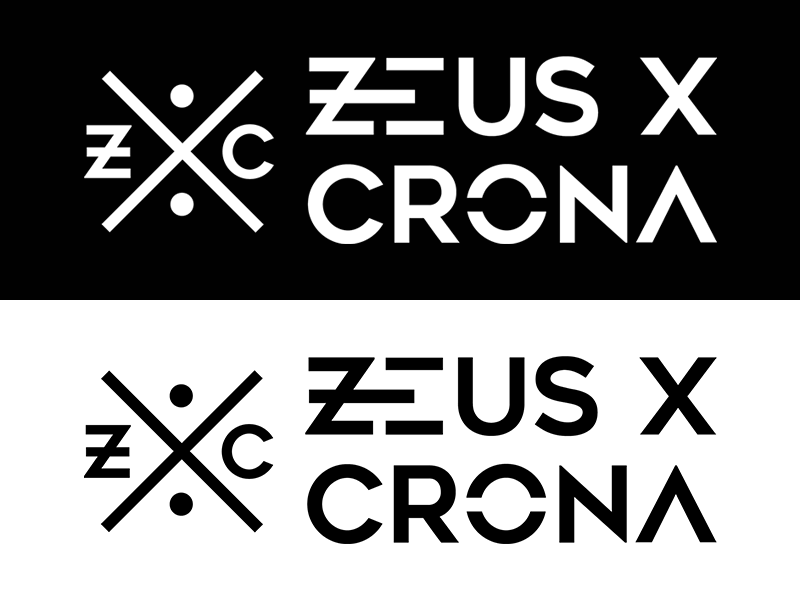 Zeus X Crona - Logo Design illustrator vector edm dj music artist brand identity branding logo logodesign