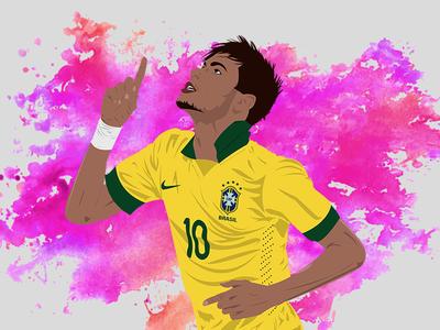 Neymar - Footballer Illustration