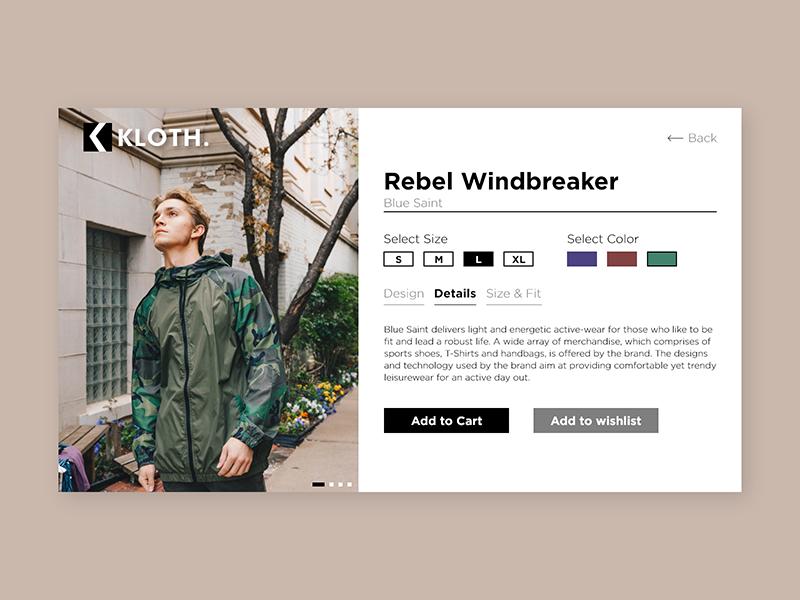 E-commerce Shop - Daily UI #012 clothing fashion ecommerce ui interaction design adobexd uxdesign uiux uidesign dailyui