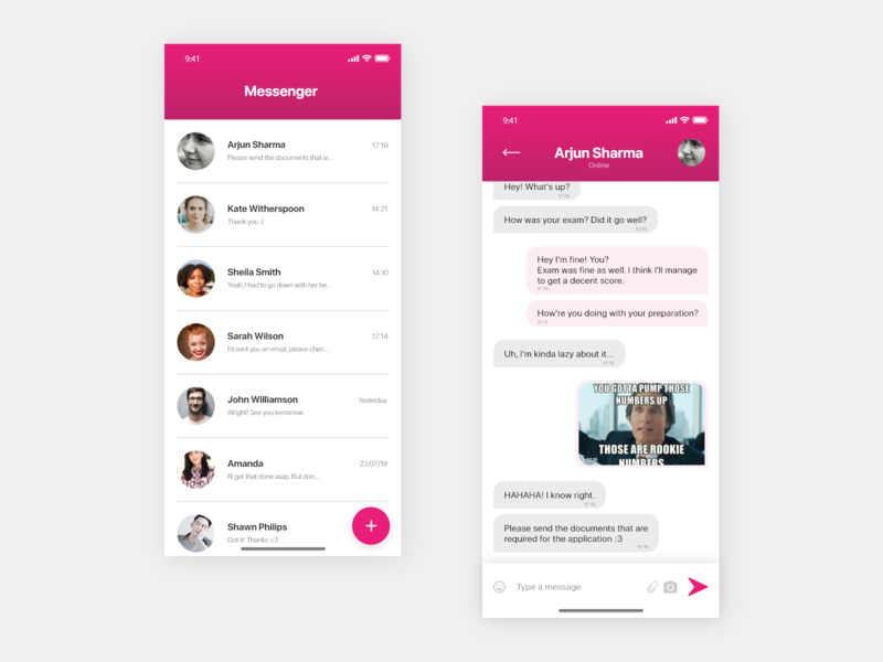 Direct Messaging - Daily UI #013 direct messaging chat app message app ui interaction design adobexd uxdesign uiux uidesign dailyui