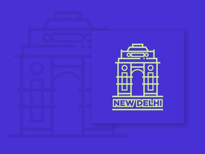 New Delhi Sticker