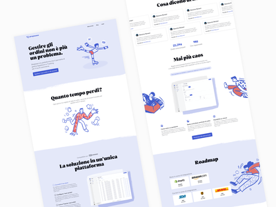 Shipbase - Landing page shipping tracking courier saas user interface peeps illustration landing page website dashboard app ui