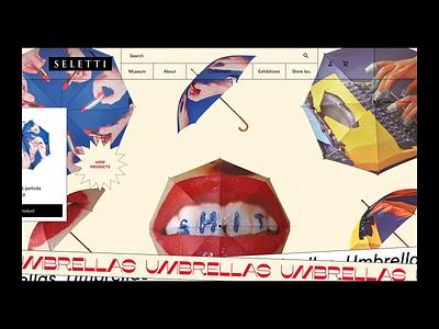 Slider w/ marquees motion kitsch ecommerce website hero slider marquee