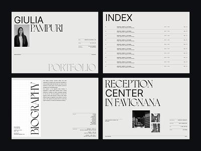 My girlfriend's Portfolio architecture architect biography resume index typo typography portfolio