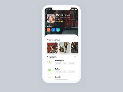 Fitness App workout gym sport fitness user interface app design dashboard app ui