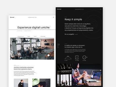 Beconcept Studio website minimal web agency digital agency website