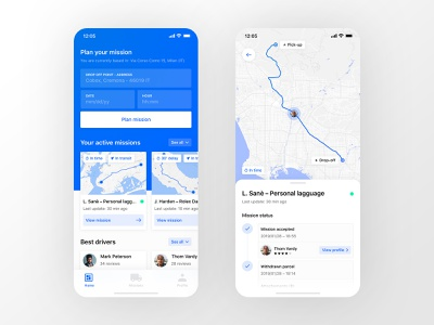 Shipping App user experience user inteface map ui maps tracking shipping user interface dashboard app ui