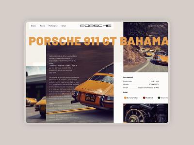 Porsche 911s - Bahama Yellow engine cars motors porsche user interface ui