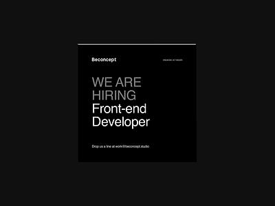 Recruitment banner developer digital web beconcept cv job recruiting after affects branding agency typogaphy hiring 3d motion