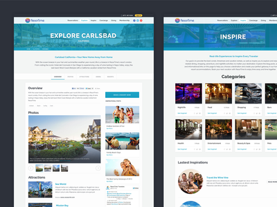 Explore website web listings blog interior cards card detail site post overview