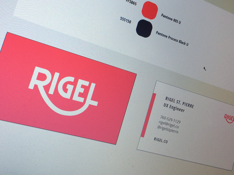 Rigel | Cards logo branding mark icon type custom typography cards card business letterpress