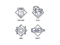 Adventure icons