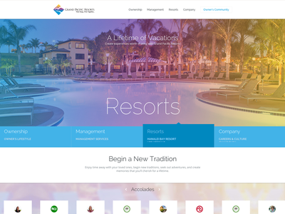 Grand Pacific Resorts redesign