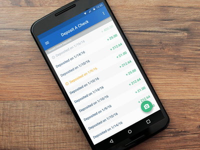 Summit Checking - Android deposit check checking banking bank nexus material android mobile