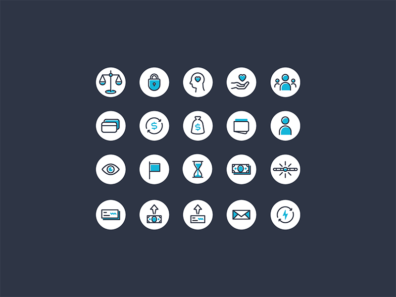 Finance Icons currency money set bank banking finance fintech icons icon