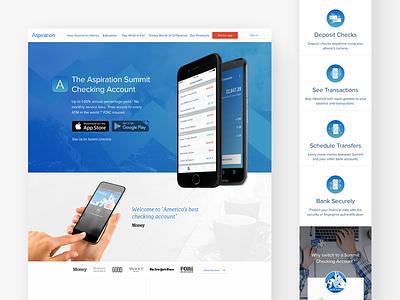 Summit iOS fintech finance checking banking aspiration app mobile ios