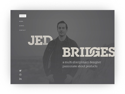 jedbridg.es WIP roboto sexy slab personal portfolio site web