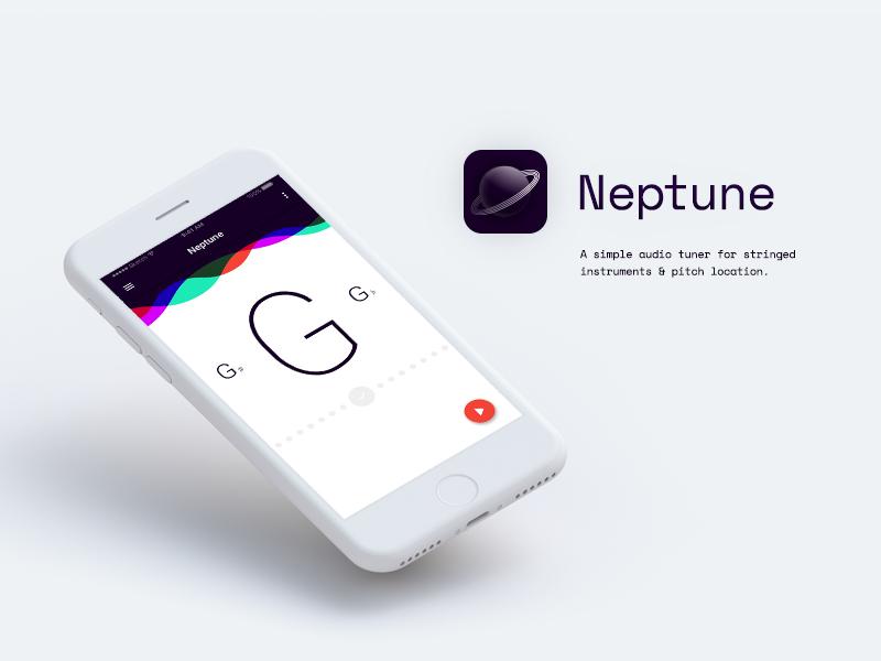 Neptune  ios fab material record instrument music guitar tuner tune audio