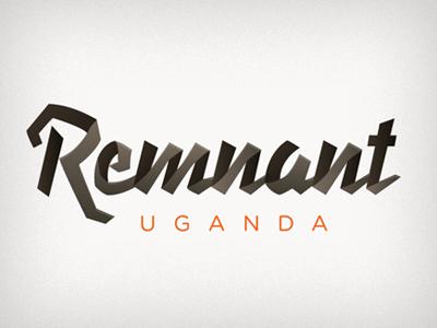 Remnant  logo brand branding type typography non-profit ministry gotham fold folded overlap