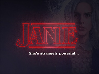She's strangely powerful... logotype type logo scifi stranger things things stranger millie 11 jane