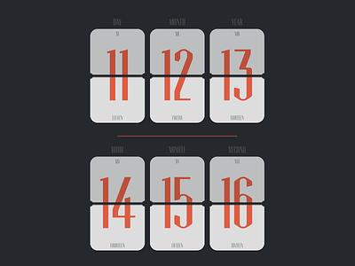 11/12/13 14:15'16 scoreboard calendar time