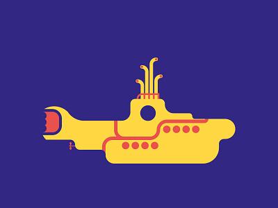 Flat Yellow Submarine submarine yellow the beatles
