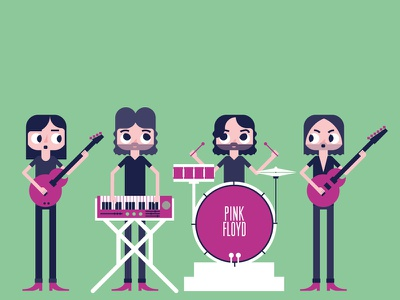 Rock Band | Pink Floyd rock band synthesizer drums bass guitar pink floyd
