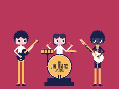 Rock Band | The Jimi Hendrix Experience jimi hendrix guitar drums bass rock band