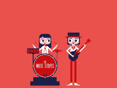 Rock Band | The White Stripes the white stripes guitar drums rock band