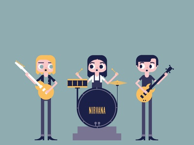 Rock Band | Nirvana nirvana guitar drums bass