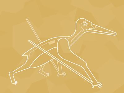 Walking Pterosaur dinosaur pterosaur