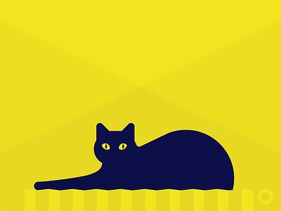 Mathilda on Yellow cat yellow radiator