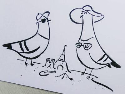 Paris Plages ink rock dove beach paris