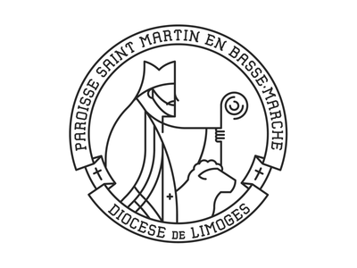 St. Martin martin of tours diocese logo ink pad