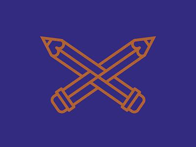 Heraldic Flag for Illustrators heraldry design cross optical illusion pencil