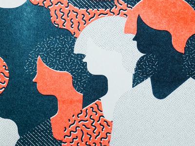 Calendrier riso risoprint illustration