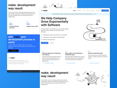 make Solution Software House Company Landing Page ui website agency software house company landing page product design uiux uidesign uiuxdesign
