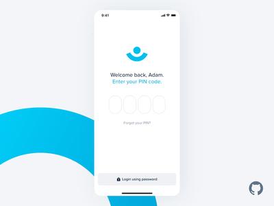 Fintech App – Reset PIN (CUI) – Animation web design typography product design print mobile app design mobile interaction design illustration cui conversational ui animation