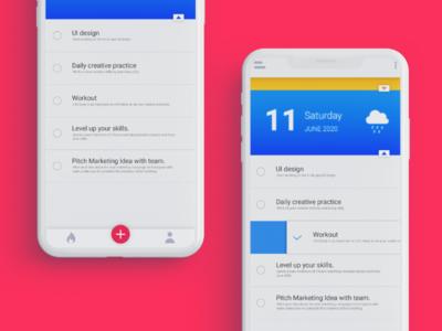 Ui exploration - To Do + Weather App design ideas design inspiration ux user experience figma adobexd illustrator uidesign ui user-interface