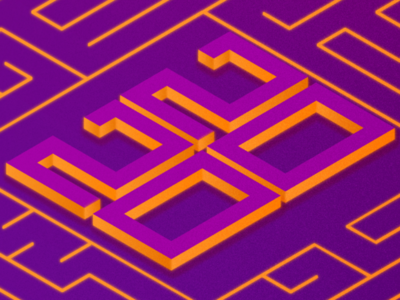 The End is always a New Beginning graphics design adobe illustrator retro neon new year color trend 2020 isometric adobe illustration
