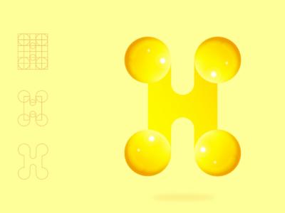 Logo exploration - H icon brand identity exploration illustrator h branding gradient design 3d logo