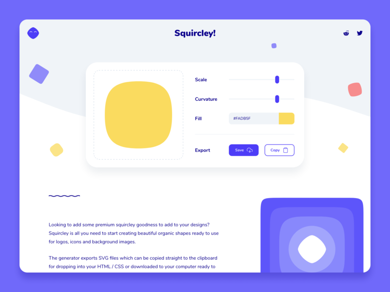 Squircley | Squircle Maker tool app web squircle colorful round design ui