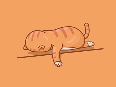 Bored cat. 🐈 cat graphicdesign logo inspiration vector illustration graphic design graphic vector design illustration