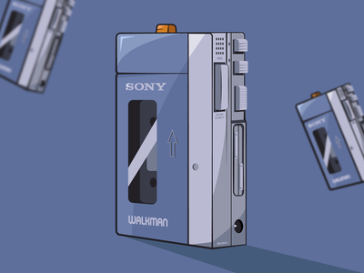 Sony Walkman 🎧 graphicdesign flat inspiration vector illustration graphic design graphic vector design illustration